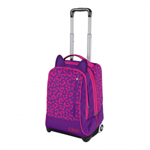 trolley faces girl fucsia - fronte