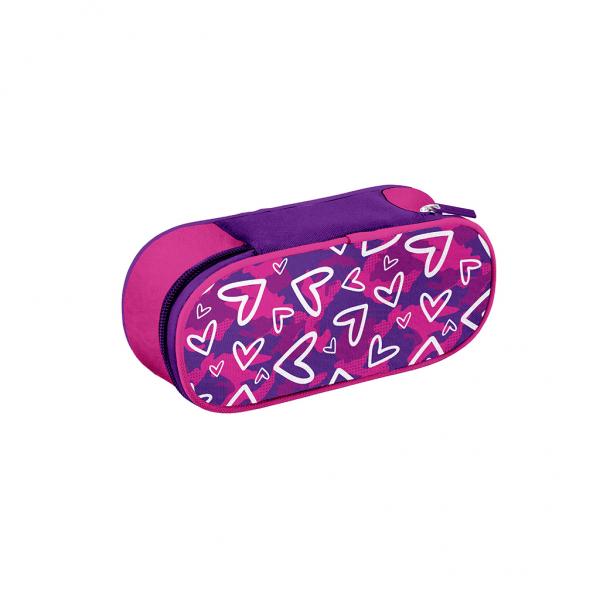 Astuccio Ovale Heart Girl Fucsia - Fronte