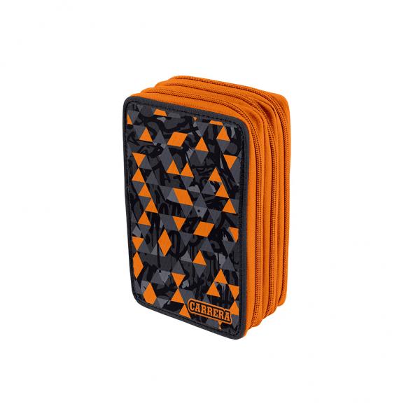 Astuccio 3 Zip Urban Boy Arancione - Fronte