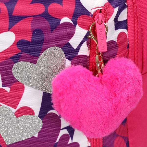 Trolley Hearts girl fucsia