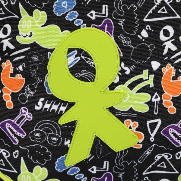 Trolley Doodle boy nero/verde