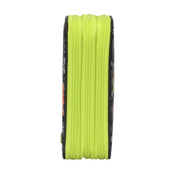 Astuccio 3 Zip Doodle boy nero/verde