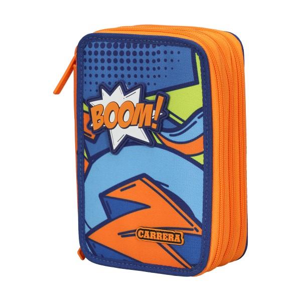 Astuccio 3 Zip Comics boy blu/arancione