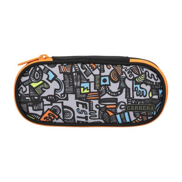 Astuccio ovale Geng boy nero/arancione