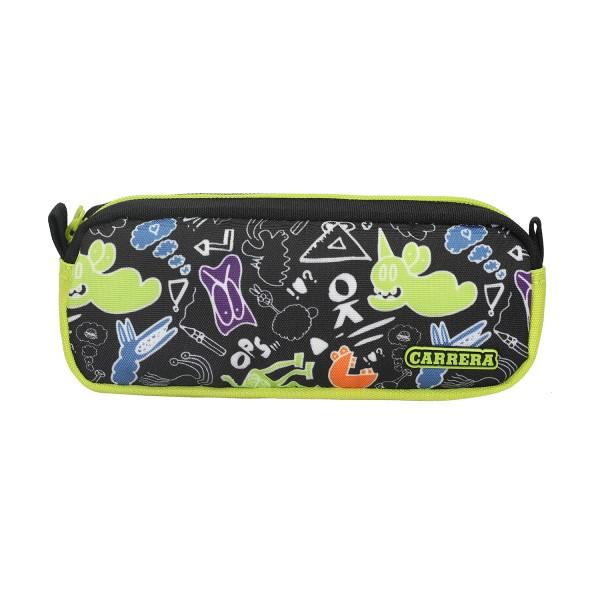 Portapenne Doodle boy nero/verde
