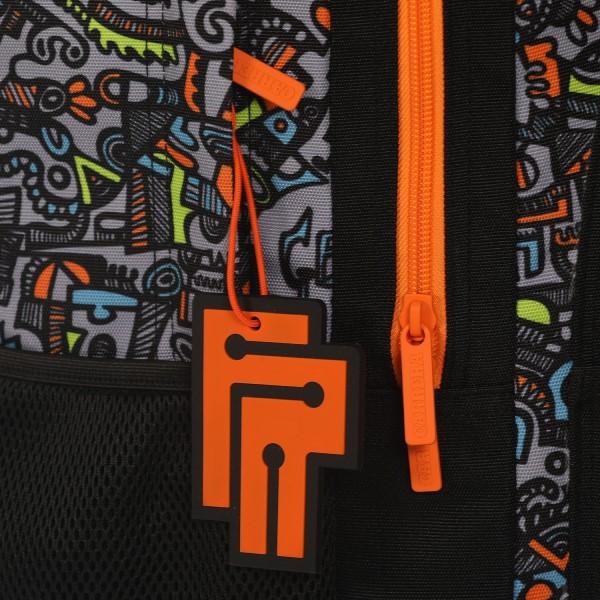 Zaino Round Geng boy nero/arancione